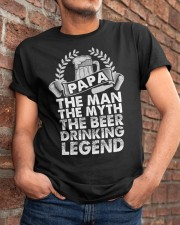 PAPA THE BEER DRINKING LEGEND Classic T-Shirt apparel-classic-tshirt-lifestyle-26