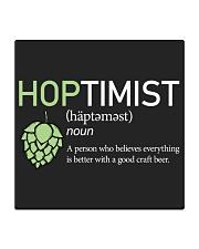 Hoptimist craft beer Square Coaster thumbnail