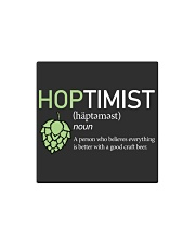 Hoptimist craft beer Square Magnet thumbnail