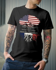 Never underestimate a man FRA US Classic T-Shirt lifestyle-mens-crewneck-front-6