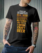 REAL BEER Classic T-Shirt lifestyle-mens-crewneck-front-6