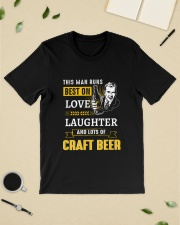 THIS MAN RUNS BEST ON LOVE LAUGHTER AND LOTS OF Classic T-Shirt lifestyle-mens-crewneck-front-19