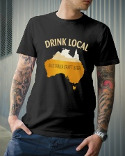 DRINK LOCAL AUSTRALIA CRAFT BEER Classic T-Shirt lifestyle-mens-crewneck-front-6