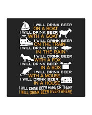 I WILL DRINK BEER EVERYWHERE Square Coaster thumbnail