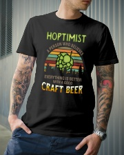 Hoptimist craft beer Classic T-Shirt lifestyle-mens-crewneck-front-6