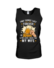 Two last forever my beer and my wife Unisex Tank thumbnail