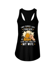 Two last forever my beer and my wife Ladies Flowy Tank thumbnail