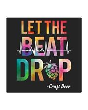 LET THE BEAT DROP Square Coaster thumbnail