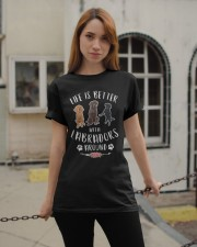 Life is better with Labradors around Classic T-Shirt apparel-classic-tshirt-lifestyle-19