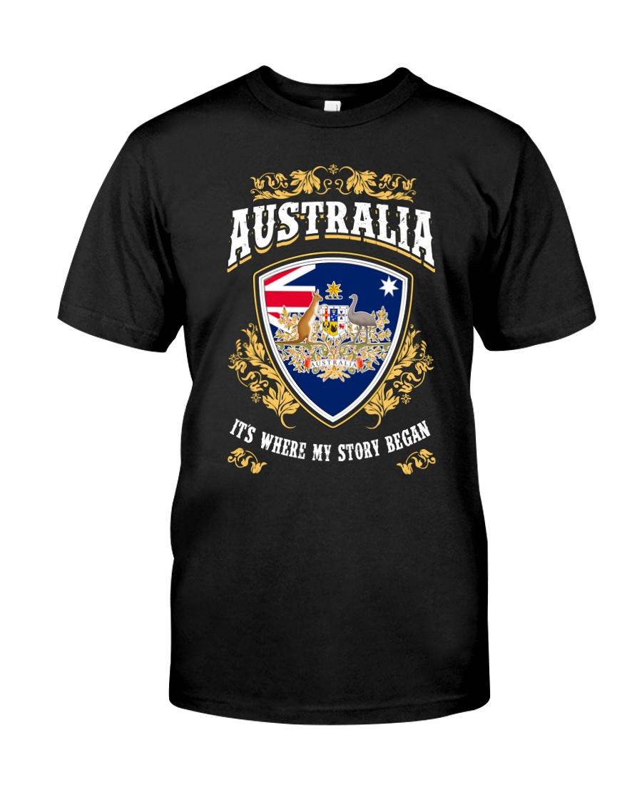 Australia it's where my story began Classic T-Shirt