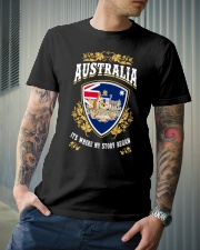 Australia it's where my story began Classic T-Shirt lifestyle-mens-crewneck-front-6