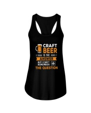 CRAFT BEER IS THE ANSWER Ladies Flowy Tank thumbnail