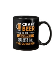 CRAFT BEER IS THE ANSWER Mug thumbnail