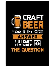 CRAFT BEER IS THE ANSWER 11x17 Poster thumbnail