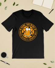HOME BREWING WHERE SCIENCE AND DRINKING MEET Classic T-Shirt lifestyle-mens-crewneck-front-19