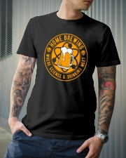 HOME BREWING WHERE SCIENCE AND DRINKING MEET Classic T-Shirt lifestyle-mens-crewneck-front-6