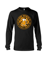 HOME BREWING WHERE SCIENCE AND DRINKING MEET Long Sleeve Tee thumbnail