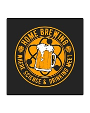 HOME BREWING WHERE SCIENCE AND DRINKING MEET Square Coaster thumbnail