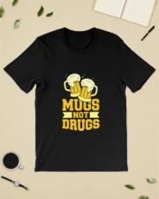 Mugs not drugs Classic T-Shirt lifestyle-mens-crewneck-front-19