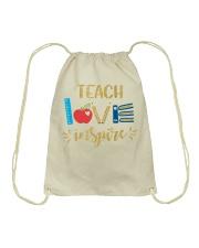 TEACH LOVE INSPIRE - Teach love inspire Drawstring Bag thumbnail