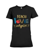 TEACH LOVE INSPIRE - Teach love inspire Premium Fit Ladies Tee thumbnail