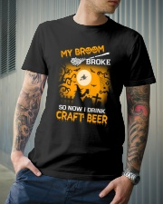 MY BROOM BROKE SO NOW I DRINK CRAFT BEER Classic T-Shirt lifestyle-mens-crewneck-front-6