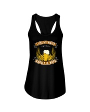 I like my water with barley and hops Ladies Flowy Tank thumbnail