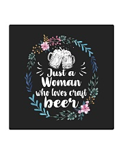 JUST A WOMAN WHO LOVES CRAFT BEER Square Coaster thumbnail