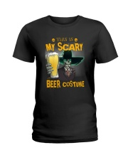 THIS IS MY SCARY BEER COSTUME Ladies T-Shirt thumbnail