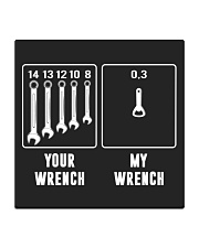 YOUR WRENCH MY WRENCH Square Coaster thumbnail