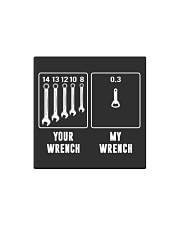 YOUR WRENCH MY WRENCH Square Magnet thumbnail