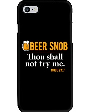 BEER SNOB THOU SHALL NOT TRY ME Phone Case thumbnail