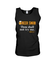 BEER SNOB THOU SHALL NOT TRY ME Unisex Tank thumbnail