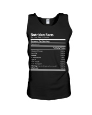 Nutrition facts Unisex Tank thumbnail