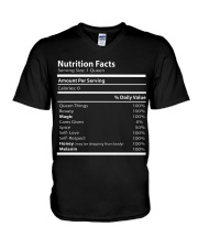 Nutrition facts V-Neck T-Shirt thumbnail