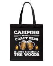 Camping Craft Beer Tote Bag thumbnail
