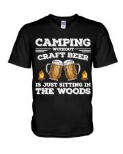 Camping Craft Beer V-Neck T-Shirt thumbnail