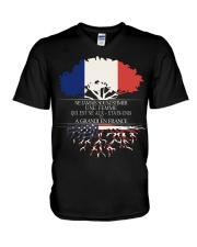 Never underestimate an old man US FRE V-Neck T-Shirt thumbnail