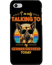 TALKING TO MY GERMAN SHEPHERD Phone Case thumbnail