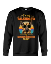 TALKING TO MY GERMAN SHEPHERD Crewneck Sweatshirt thumbnail
