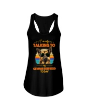 TALKING TO MY GERMAN SHEPHERD Ladies Flowy Tank thumbnail