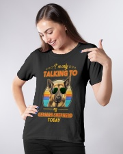 TALKING TO MY GERMAN SHEPHERD Ladies T-Shirt apparel-ladies-t-shirt-lifestyle-front-09