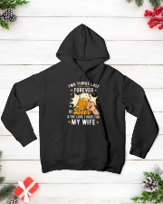 My Beer and my Wife Hooded Sweatshirt lifestyle-holiday-hoodie-front-3