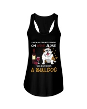 A WOMAN CAN NOT SURVIVE ONE WINE ALONE Ladies Flowy Tank thumbnail