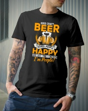 GOOD CRAFT BEER MAKES PEOPLE HAPPY Classic T-Shirt lifestyle-mens-crewneck-front-6