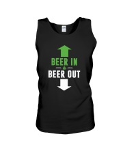 BEER IN BEER OUT Unisex Tank thumbnail