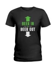 BEER IN BEER OUT Ladies T-Shirt thumbnail