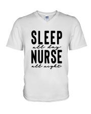 Sleep all day Nurse all night V-Neck T-Shirt thumbnail