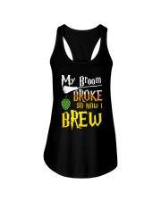 My broom broke so now i brew Ladies Flowy Tank thumbnail