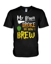 My broom broke so now i brew V-Neck T-Shirt thumbnail